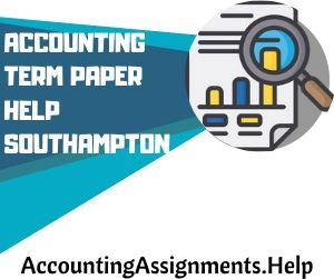 Accounting Term Paper Help Southampton