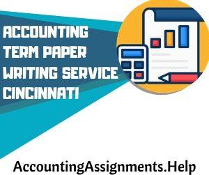 Accounting Term Paper Writing Service Cincinnati